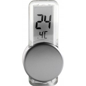 Plastic LCD thermometer, Silver