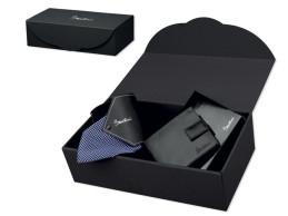 QUARDO SET set peňaženky a kravaty SANTINI v darčekovej krabičke